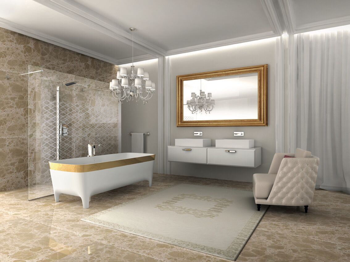 Gold Bathroom Accents - add luxury