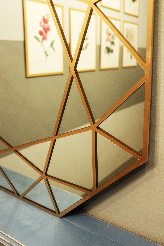 Gold DIY Gem Mirror