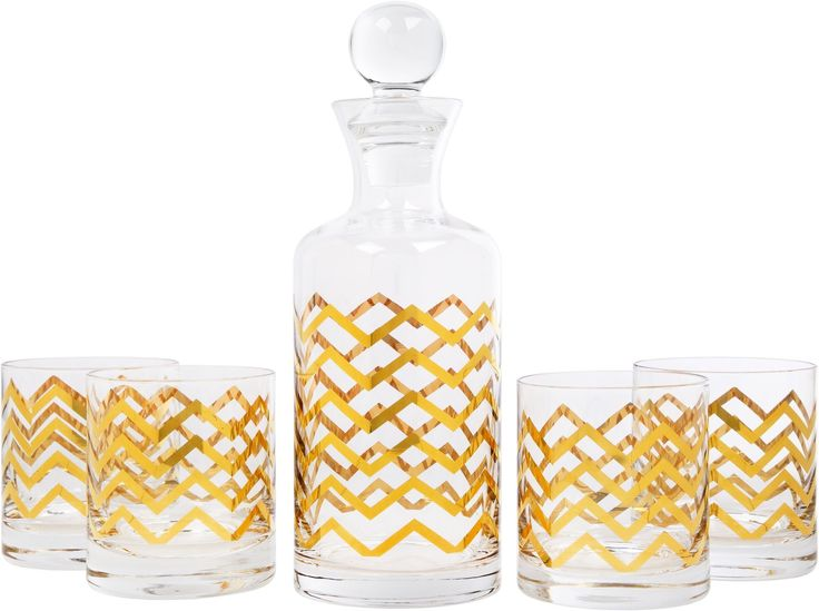 Gold chevron glasses