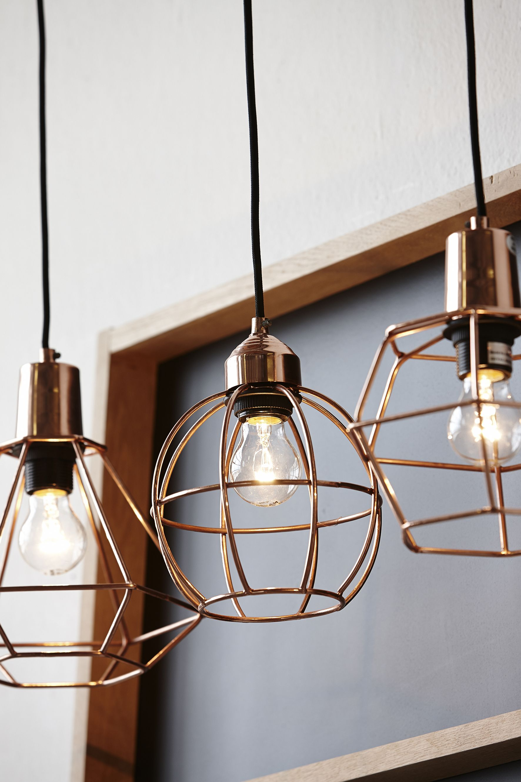20 examples of copper pendant lighting for your home hanging copper cage lights mozeypictures Choice Image