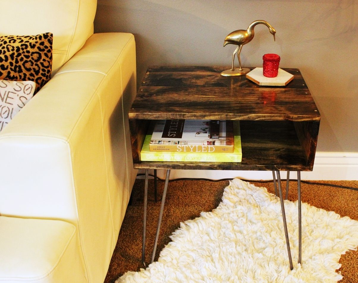 DIY Hairpin Leg Side Table - How to build an end table