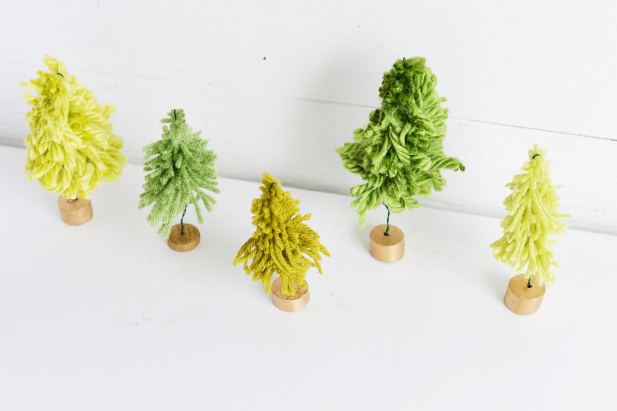 How to make Mini Yarn trees