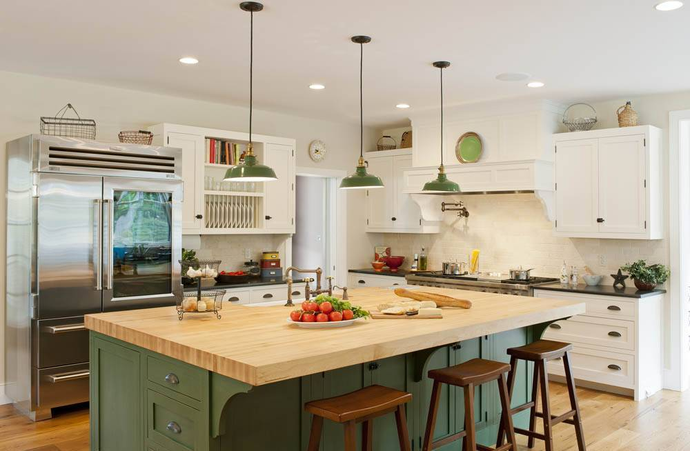jade greens - Modern Farmhouse Kitchen