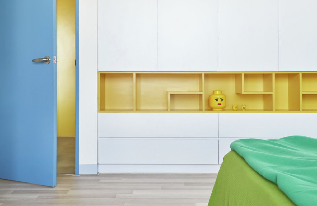 LEGO-inpired apartment in Taiwan bedroom furniture