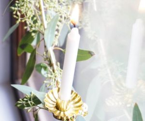 How To Make An Eucalyptus Wreath With Candle Stick