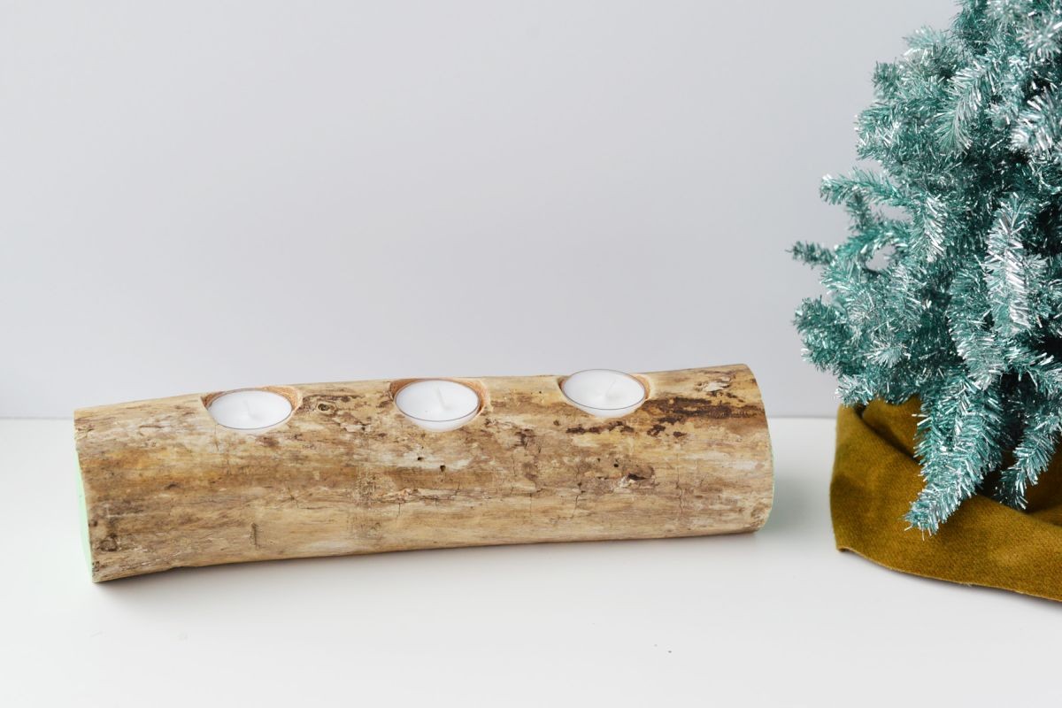 Log candle holder tutorial