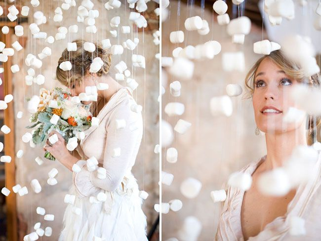 Marshmallow snowflake photo booth