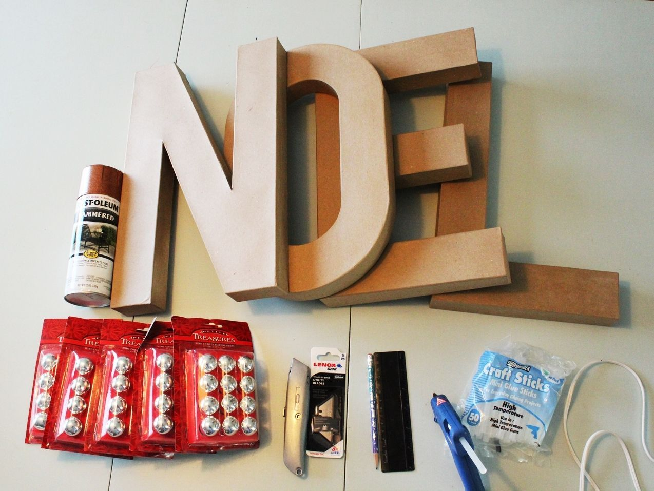Materials to DIY Marquee Sign