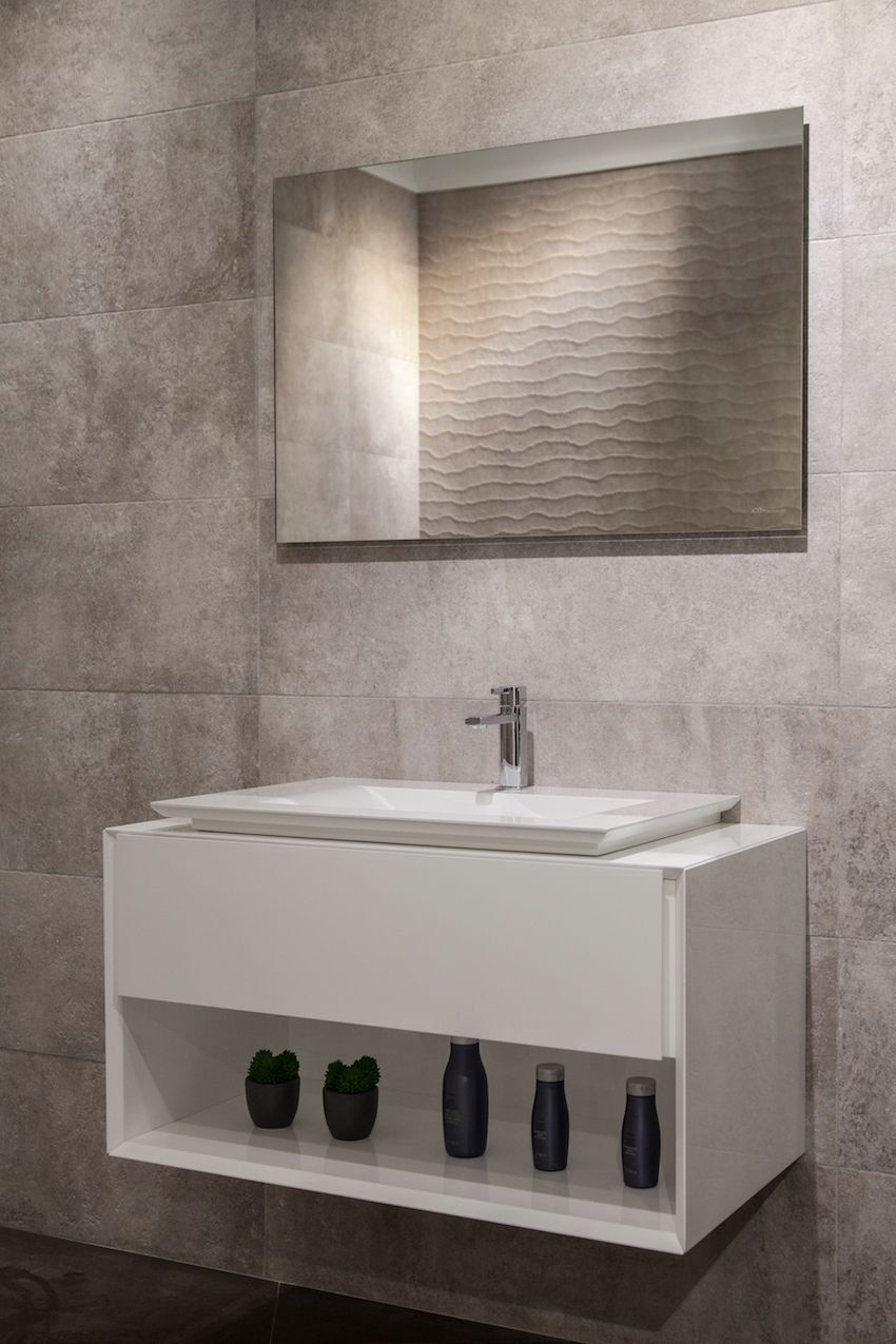 The P3 Comforts Washbasin Combined With L Cube Bathroom Furniture By Philippe Starck