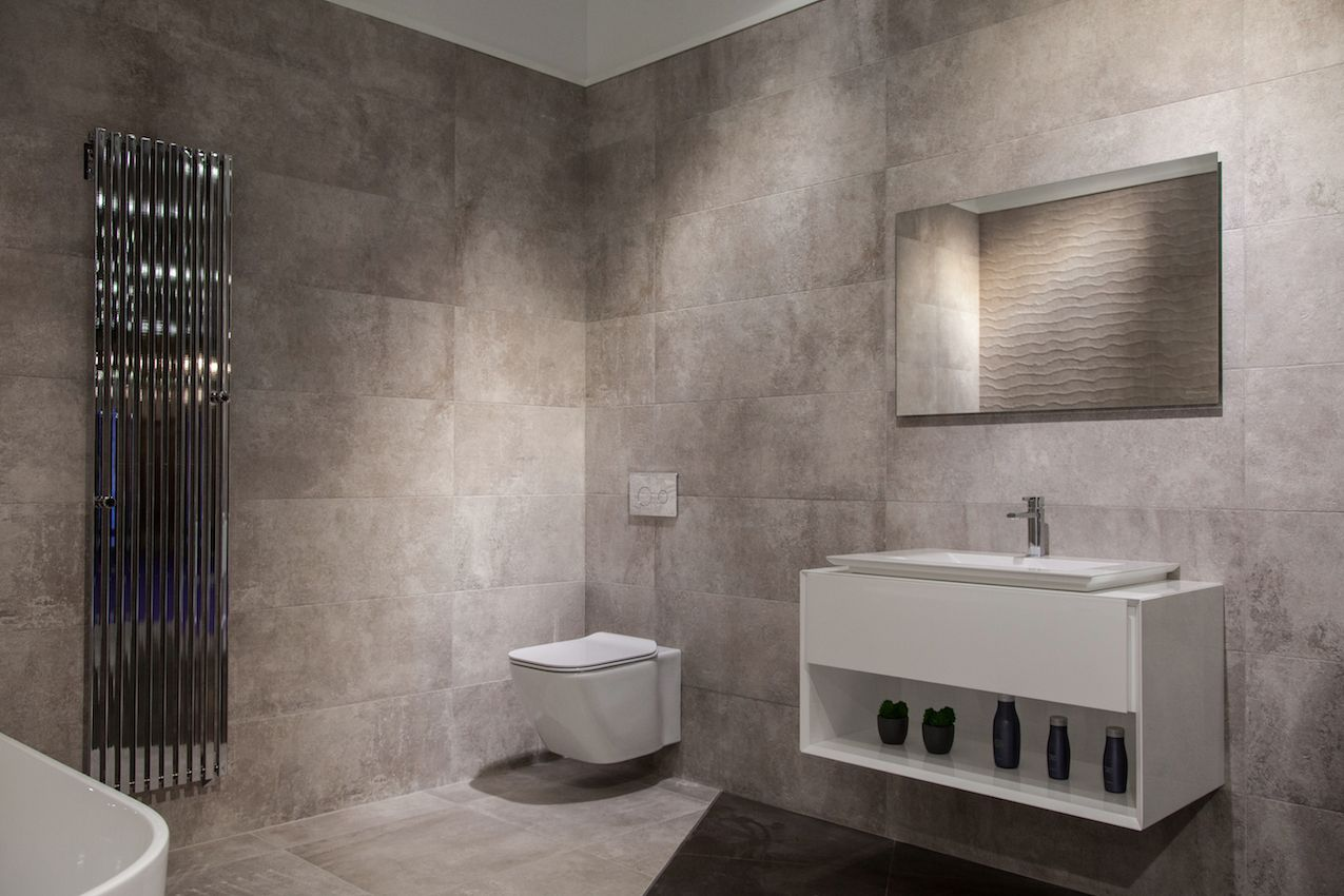 Modern bathroom designs yield big returns in comfort and for Pictures of contemporary bathrooms