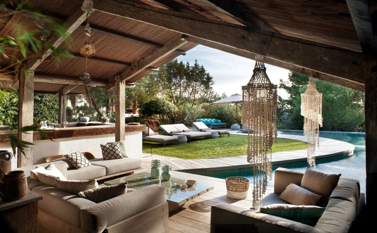 Modern Ibiza home by TG Studio - outdoor social area