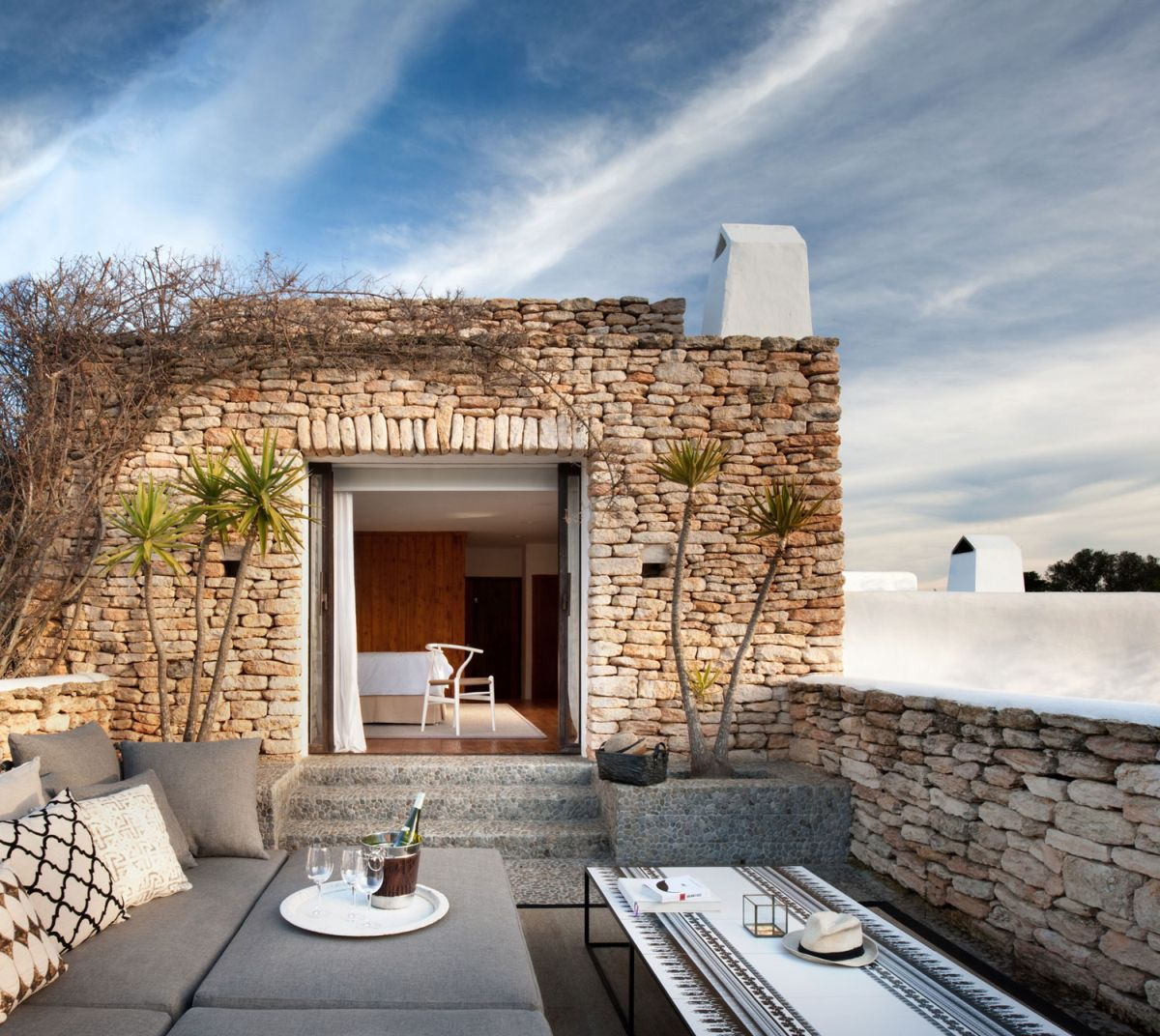 Modern Ibiza home by TG Studio - outdoor terrace