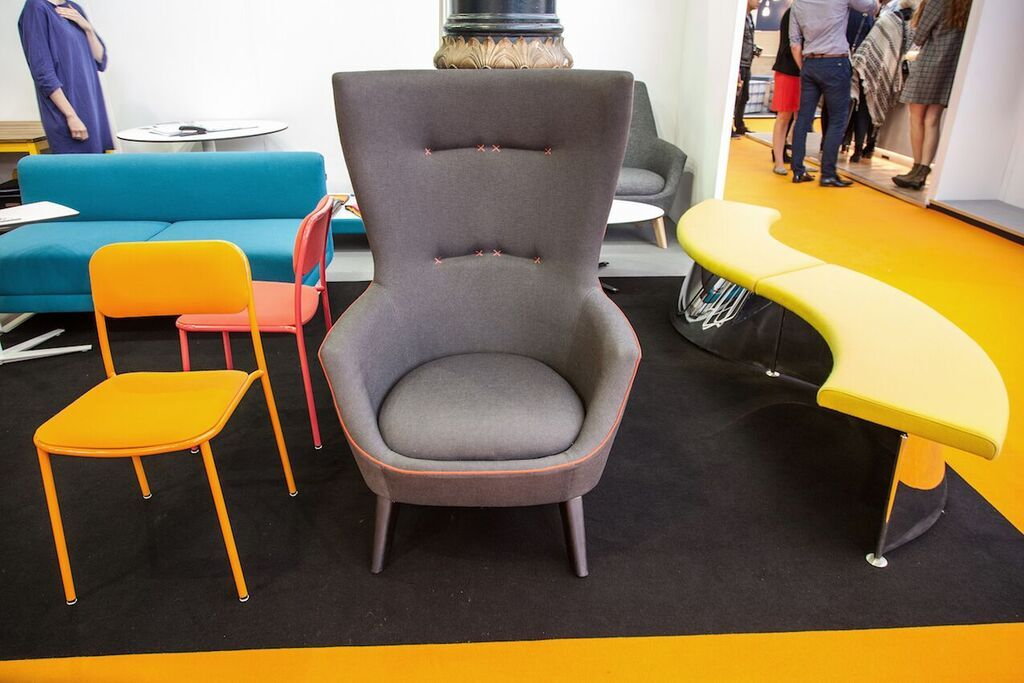 Modern chairs with touch of color