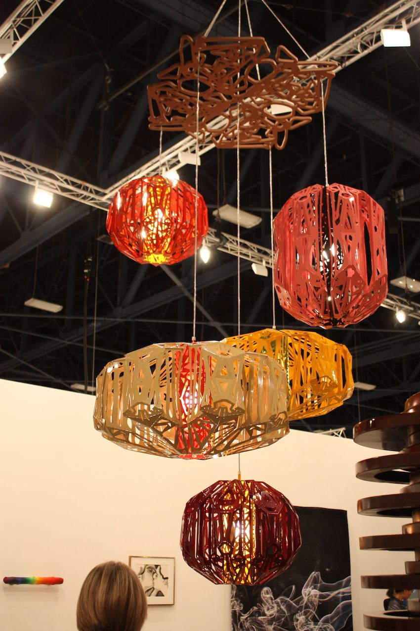 These intricately cut pendant lights shown by Neuger-nemschneider Gallery remind us of exotic lanterns.
