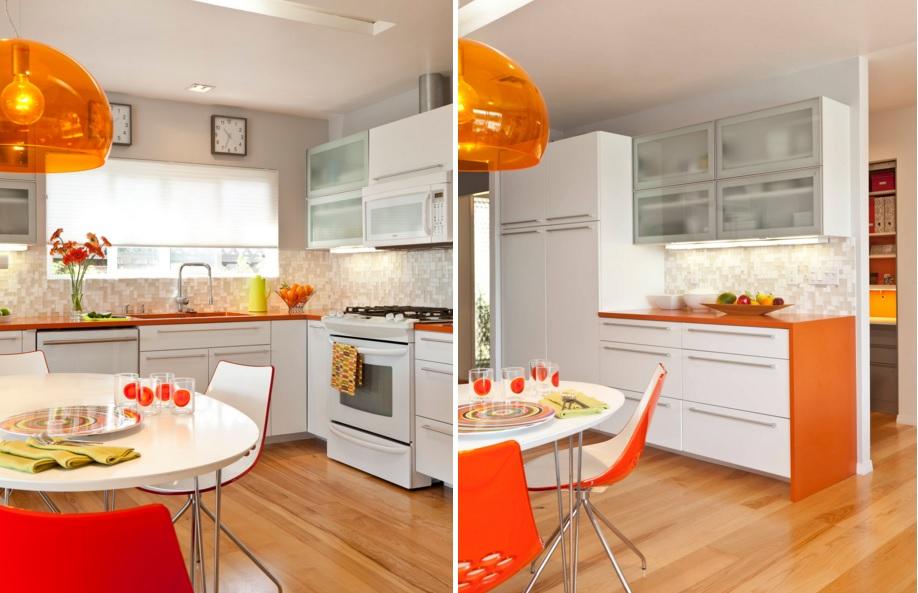Orange kitchen color scheme