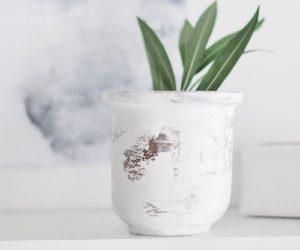 DIY Peeling Paint Effect Vase