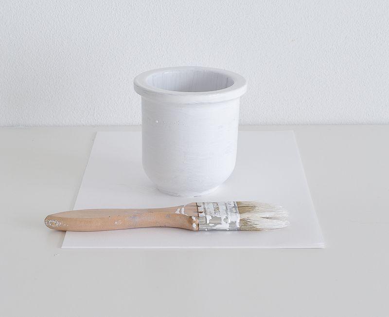 Peeling Paint Effect Vase - Clean Terracotta vase