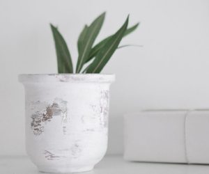 DIY Peeling Paint Effect Vase