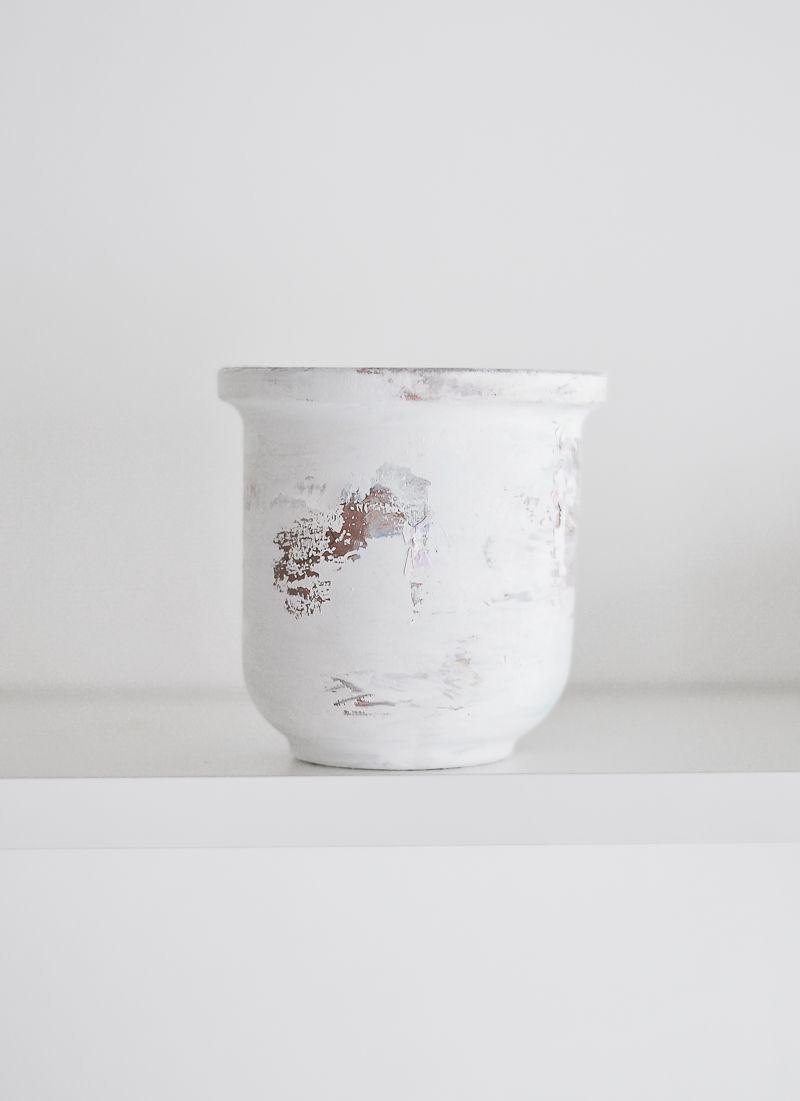 Peeling Paint Effect Vase - Remove papper