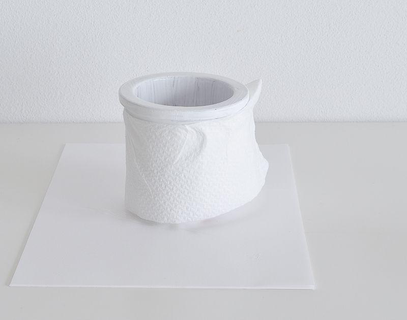 Peeling Paint Effect Vase -Tissue Papper