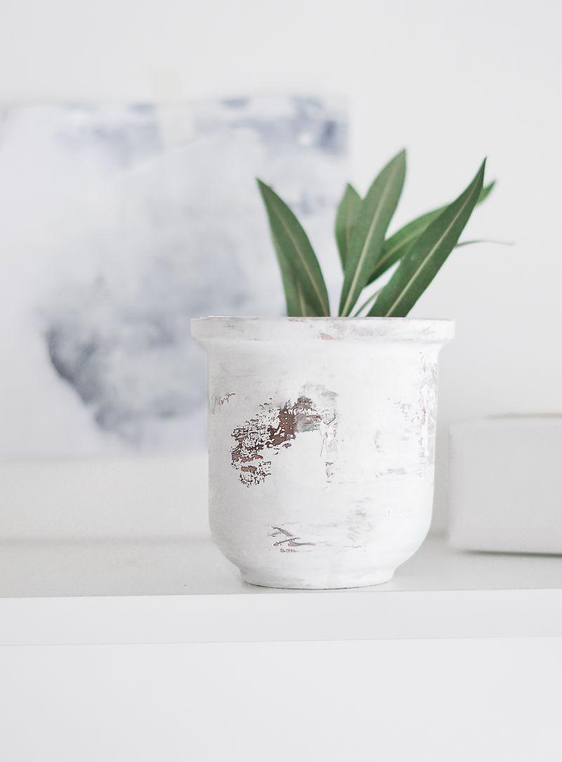 Peeling Paint Effect Vase