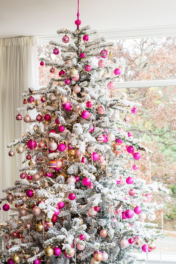 Pink Christmas Tree Decoration