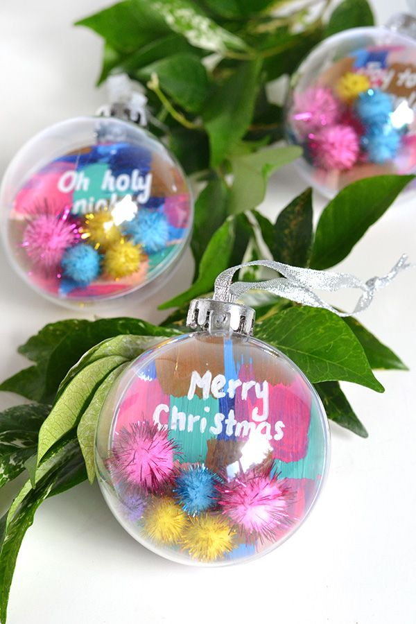 Pom pom quote ornaments