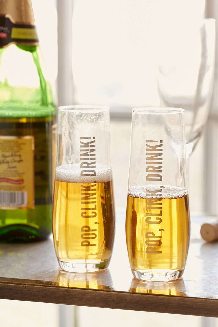 Pop clink drink glasses
