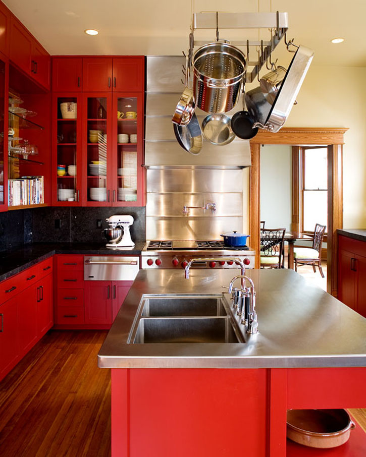 Red Kitchen Paint Ideas Part - 32: Red Kitchen Color Scheme