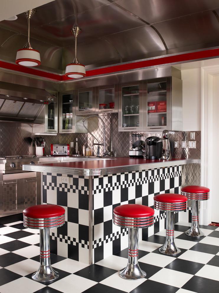 Retro dinner style kitchen