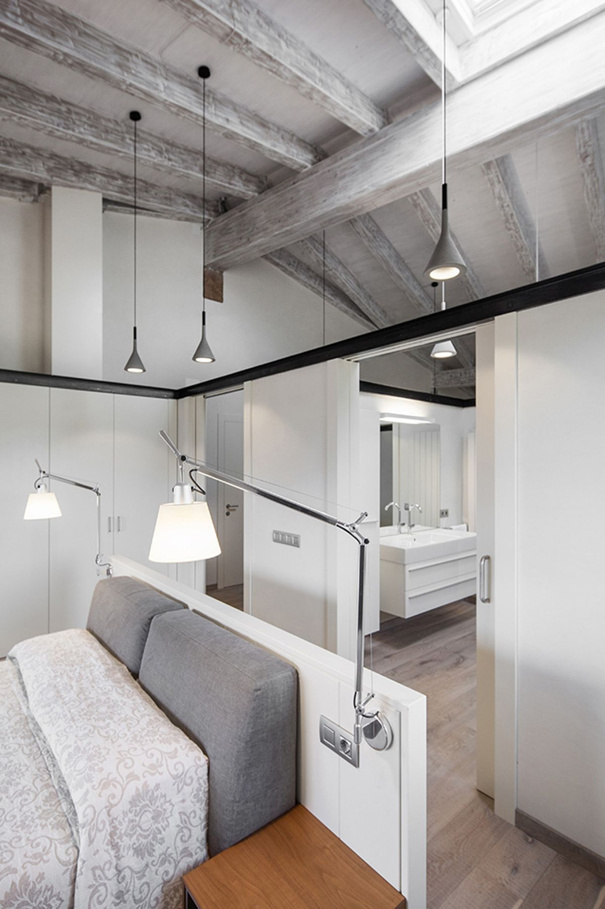 Rustic house gets rehabilitated in Spain - bedroom and en-suite