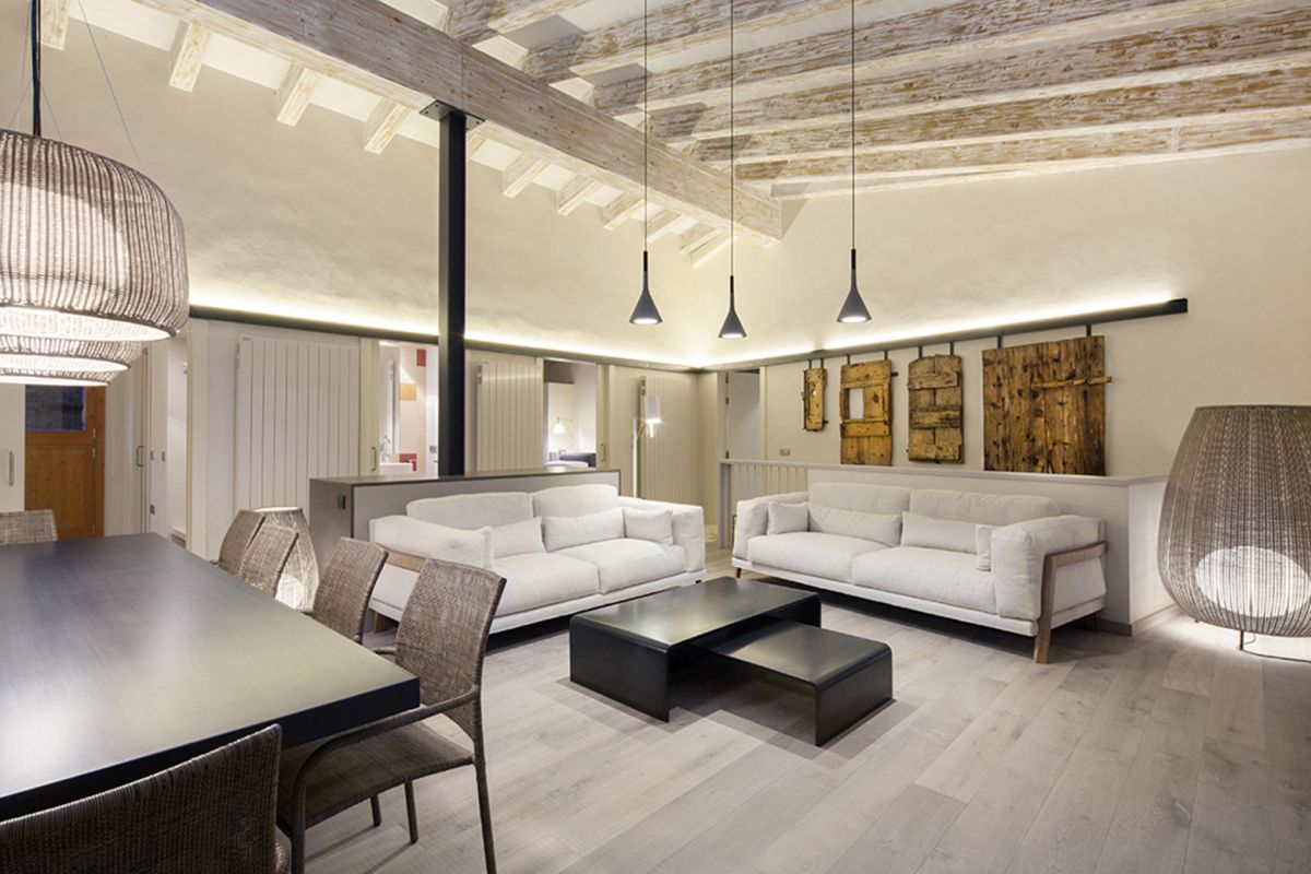 Rustic house gets rehabilitated in Spain - seating area