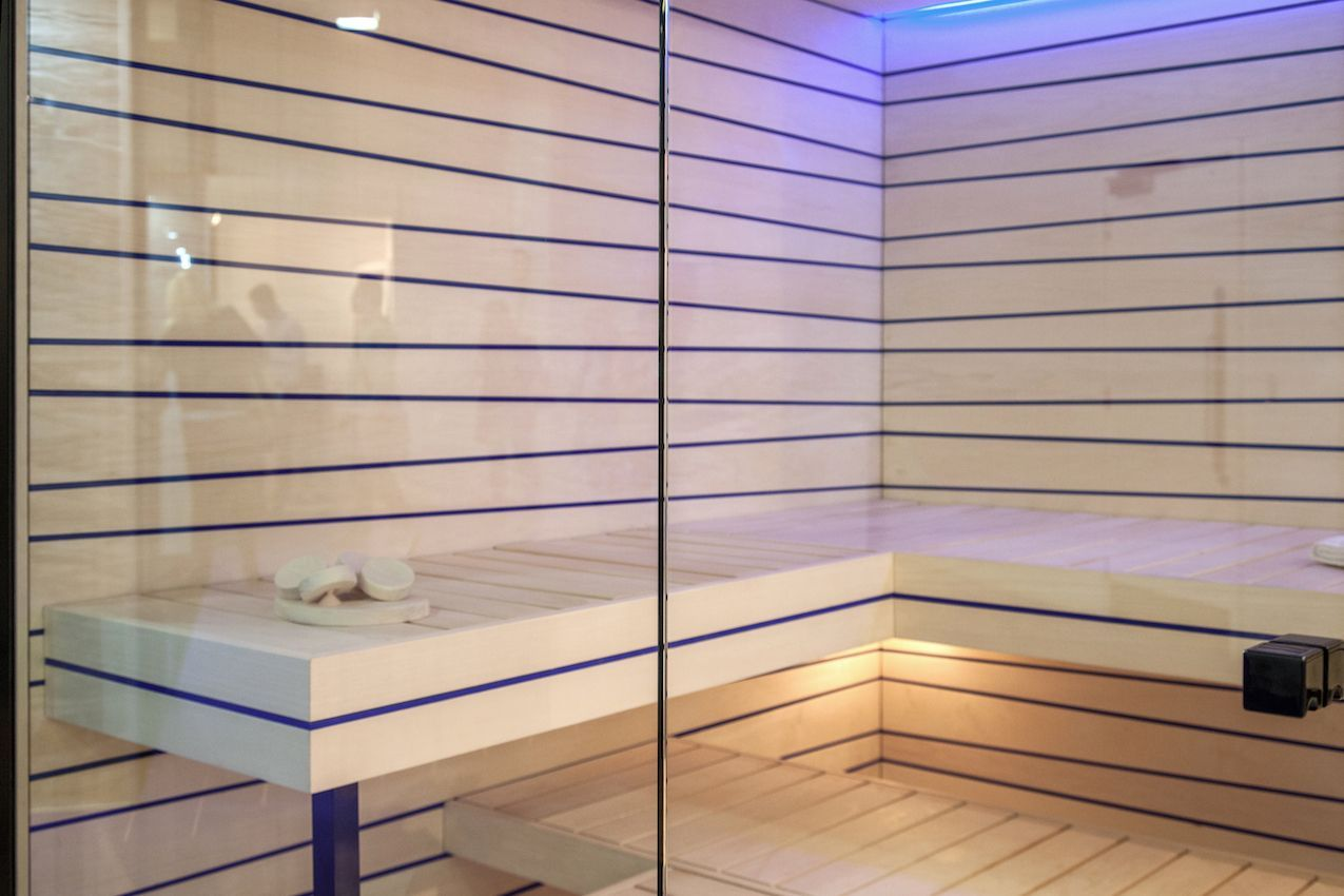 Sauna modern design  Modern Bathroom Designs Yield Big Returns In Comfort and Beauty