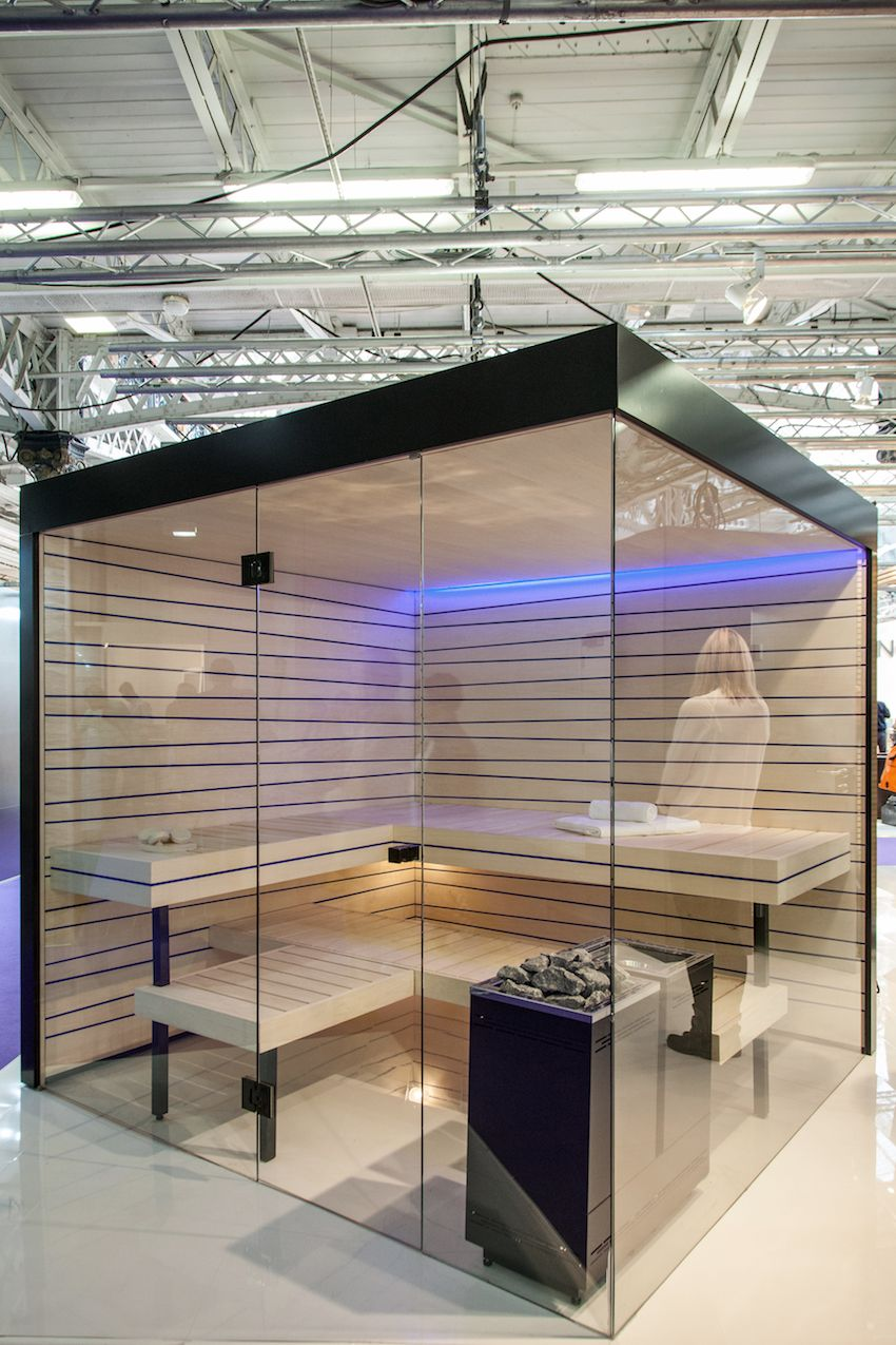 Glass enclosed and portable, these sauna facilities can often be customized.