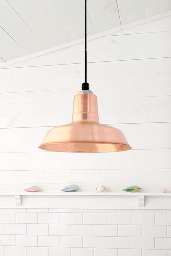 Genial Simple Copper Pendant Light
