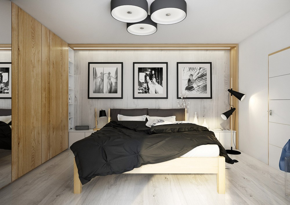 Slick bedroom design