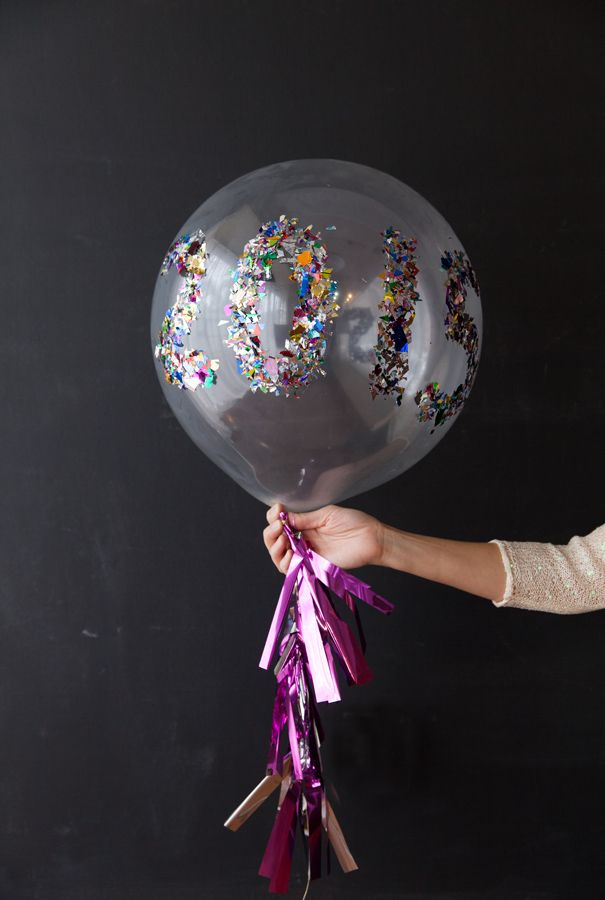 Sparkle date balloons
