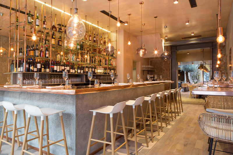 The Bandol Restaurant Bar Hexagonal Tiles Design