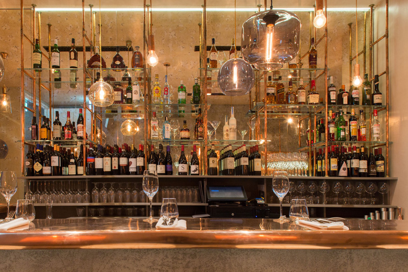 The Bandol Restaurant behind the bar