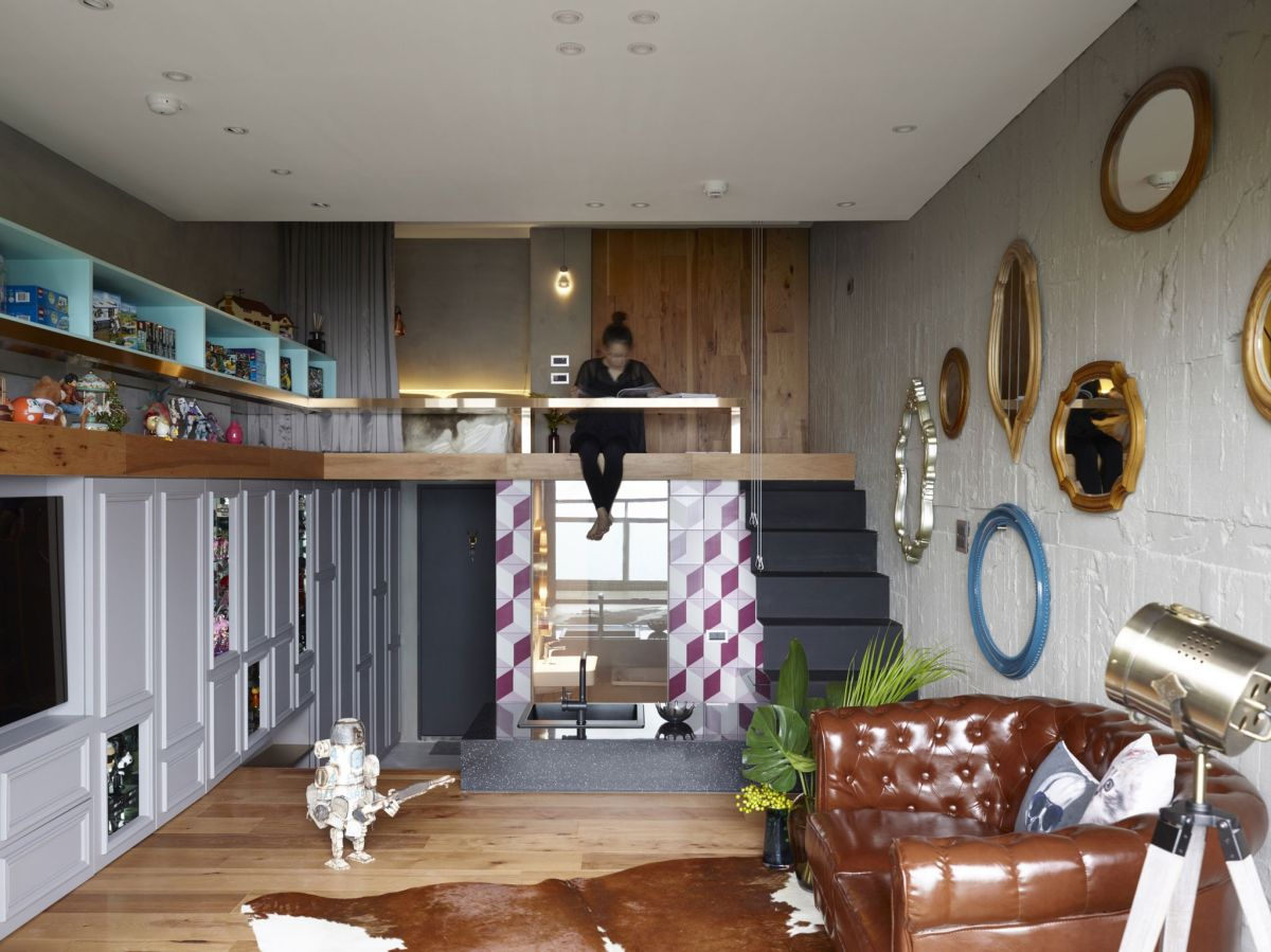 The Toy House apartment in New Taipei mezzanine level
