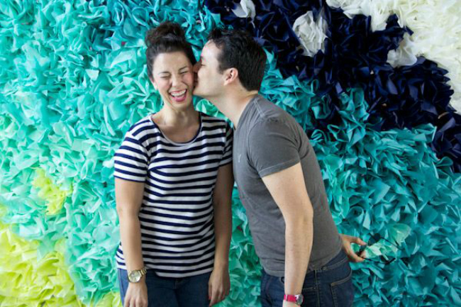 Tissue paper photo booth