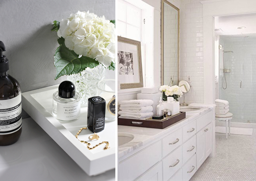 Vanity organizer ideas and styling techniques for your for Z gallerie bathroom decor