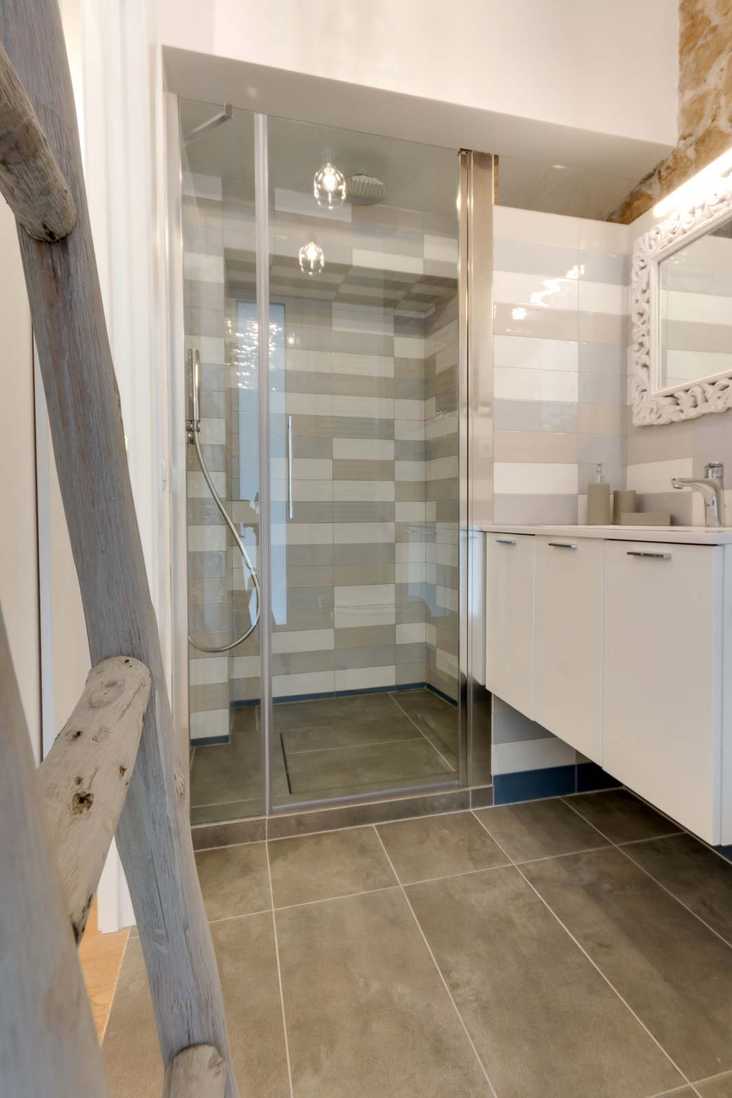 Via Sistina Apartment bathroom walk-in shower
