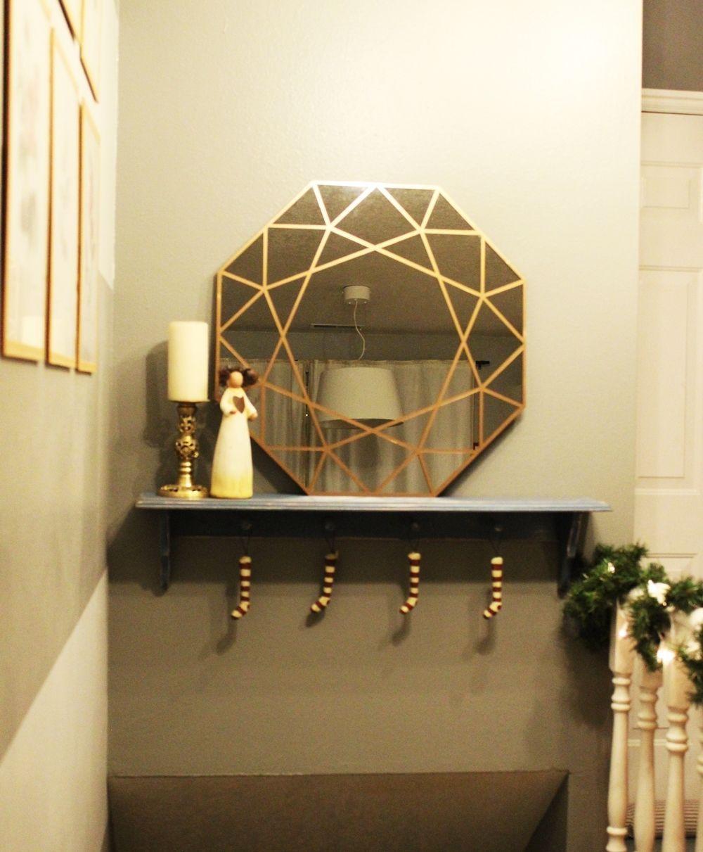 Wall DIY Gem Mirror