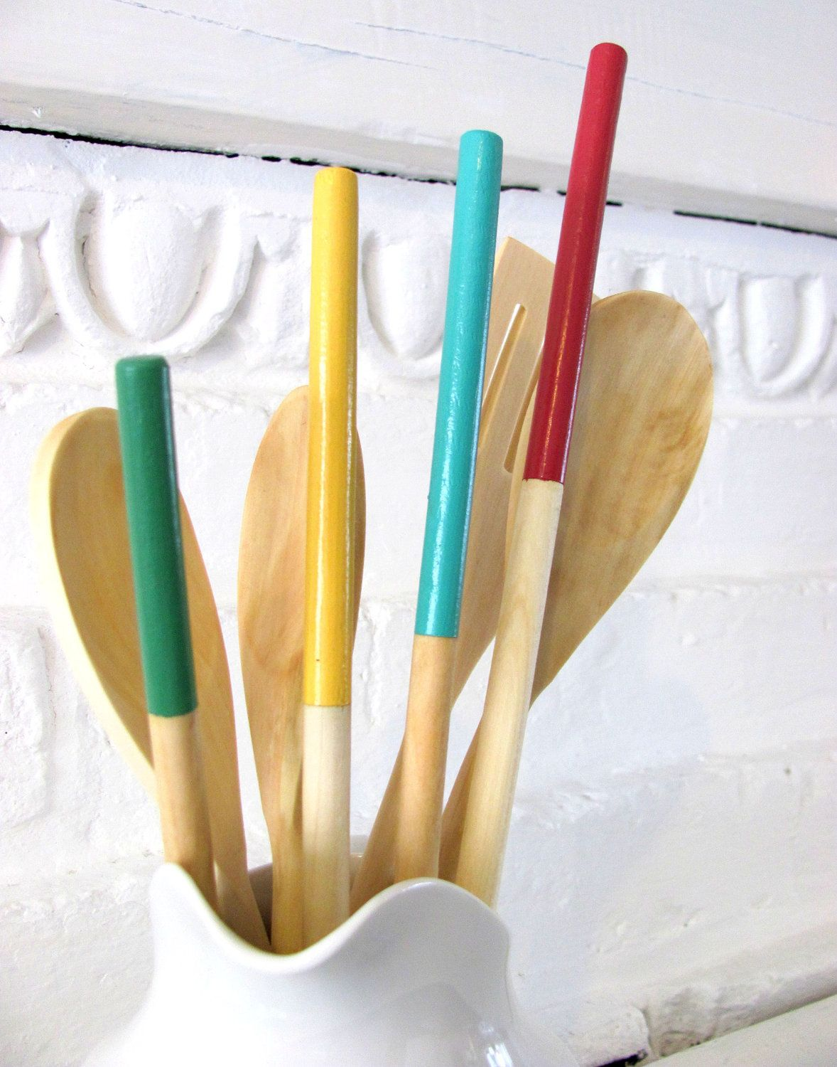 Wooden dipped spoons