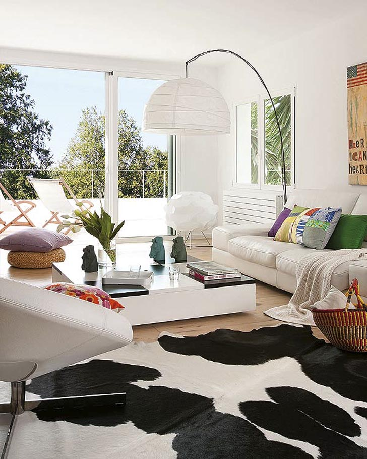 Youthful White Living Room Decor