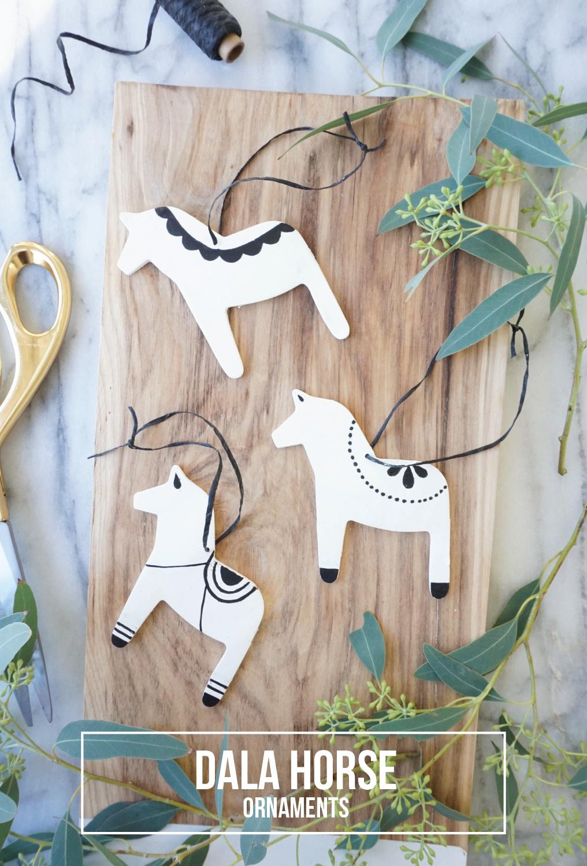 diy dala horse ornaments