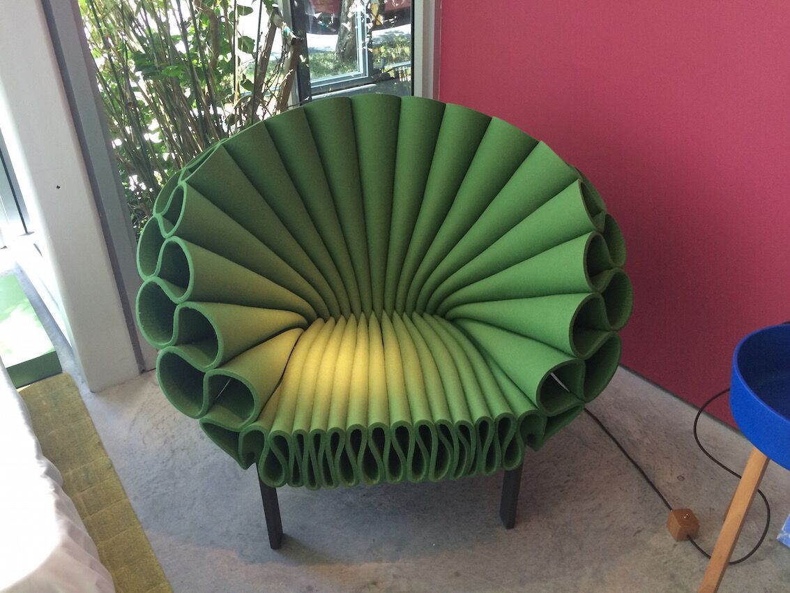 green peacock Cappellini chair