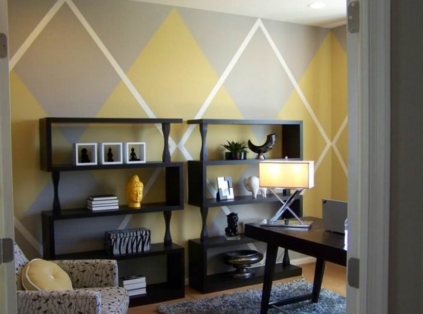 Argyle wall pattern