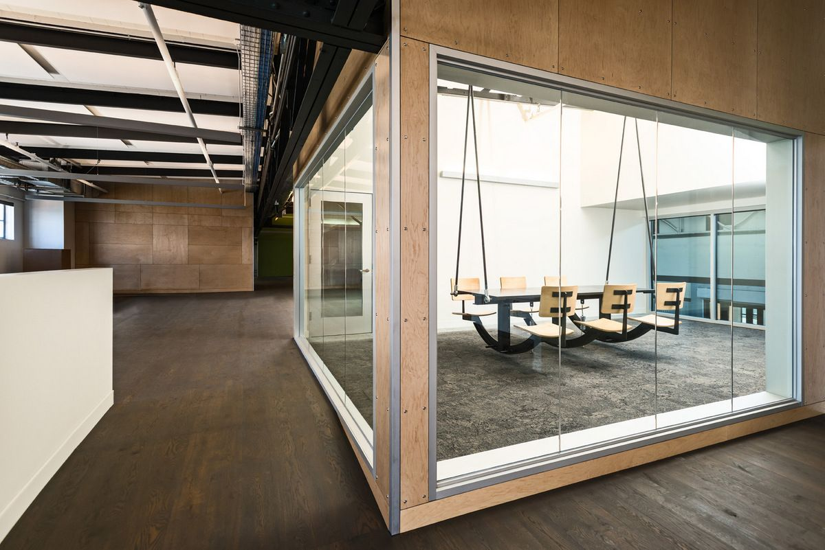 Meeting Room Design Ideas Part - 24: Autodesk Workshop Meeting Room - Hanging Chairs